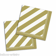 16 Gold Golden Style Happy Birthday Party 25cm Paper Beverage Napkins