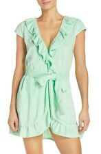 NWT Betsey Johnson Solid Beach Glass Mint Green Vintage Ruffle Soft Terry Robe S