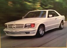 """Mercedes Benz 500SEC AMG """"White Thunder"""" Wide Body Out of Print Car Poster"""