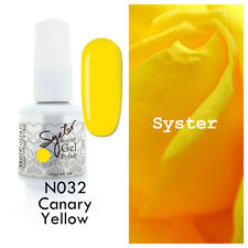 SYSTER 15ml Nail Art Soak Off Color UV Lamp Gel Polish N032 - Canary Yellow