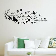 Removable Vinyl Wall Sticker Decal Mural DIY Room Art Decor Flower Butterfly
