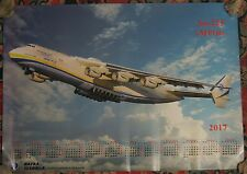 Placard Poster Advertising Air Plane 2017 Craft Ways AN 225 Antonov Calendar AH
