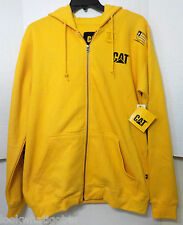 Mens Caterpillar Hoodie size Large LG Zipper Front NWTS