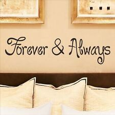 Huhome PVC Wall Stickers Wallpaper English poetry lovers Forever wedding room be