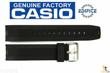 CASIO ERA-300B Edifice Original 22mm Black Rubber Watch Band Strap ERA-200B