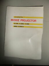 Instructions cine movie projector CHINON C-100 C-200 C-300 C-200-S - CD/Email