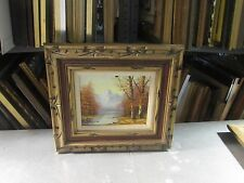 """Vintage Oil on Board Painting Framed Signed Leopold 8"""" x 10"""" - 16"""" x 18"""""""