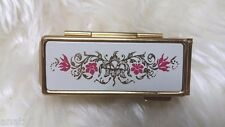 VINTAGE GOLD TONE Shisedo LIPSTICK HOLDER / Lipstick Case Floral Beauty