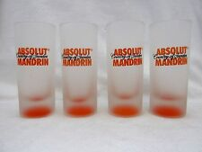4 Absolut Mandrin Vodka Liquor Advertising Bar Tavern Shot Shooter Glasses 1999