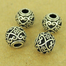 4 PCS 925 Sterling Silver Beads Love Heart Vintage Jewelry Making WSP460X4