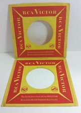 RCA VICTOR RECORDS COMPANY 45 Sleeves Orange / Red LOT of 2