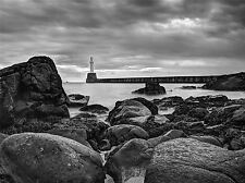 ART PRINT POSTER PHOTO LANDSCAPE SEASCAPE LIGHTHOUSE ROCKY SHORE LFMP1230