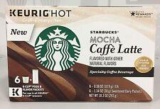 Starbucks Mocha Cafe Latte Specialty Coffee Beverage K Cup Cups Keurig 6 ct
