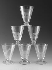 ROWLAND WARD Crystal - Cocktail / Sherry Glass Set (6) - Cut by Moser