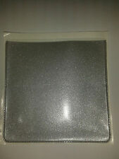 PARKING PERMIT HOLDER/POCKETS IN SILVER METAL LOOK PVC + EXTRA POCK FOR CARD