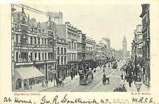 Vintage Postcard High Street Scene Belfast Northern Ireland UK B&R Series
