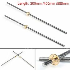 400mm Accessory Stainless Steel T8-2-D8 Trapezoidal Lead Screw For 3D Printer