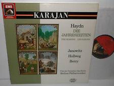 EX 153  7 69224 1 Haydn The Seasons Janowitz Hollweg Von Karajan 2LP Box Set