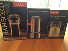 Bodum Set: 8 Cup French Press, Espresso Maker, Latteo Milk Whisk