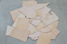 Vegetable Tanned Leather Scrap 9-10 oz Cow hide 1 Pound Pieces-1