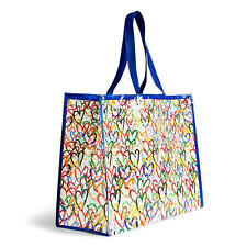 Vera Bradley Market Tote Pop Art NWT Hearts 60% Recycled Reusable FREE SHIPPING