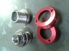 M15 Crank Bolts (SELF EXTRACTING) Octalink ISIS BB (PAIR) 15mm thread (RED)