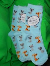 3 nwt the Humane Society SKY BLUE Socks Kids/Adults Dogs Cats Puppy's Kittens