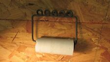 Antique Twisted Wire & Wood Toilet Paper Holder No. 1