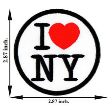 I Love New York NY City Travel USA United States Red Applique Iron on Patch Sew