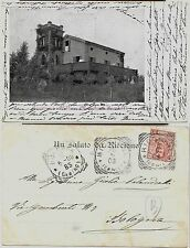 1903 RICCIONE VILLINO MARCHESI BECADELLI Beccadelli viaggiata Villa Mussolini
