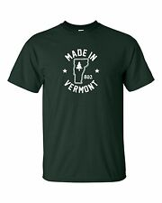 """""""Made in Vermont"""" T-Shirt size S-4XL green mountain state catamounts montpelier"""