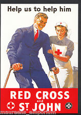 Advertising Postcard - Red Cross and St John - Robert Opie Nursing Series BH6151