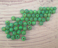 Wholesale 3MM Round Tiny Loose Green Opal Bead Spacer full hole connector 20 pcs