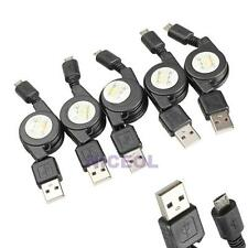 5 Pcs Micro USB to USB 2.0 Retractable Data Sync Charger Charging Cable Cord New
