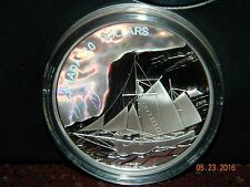 2006 CANADA $20 TALL SHIPS - THE KETCH - HOLOGRAM PROOF SILVER COIN W/BOX & COA