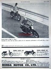 1960 HONDA 'Dream 250cc & Super Cub 50cc' Motor Cycles AD - Vintage Print ADVERT