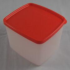 Tupperware G 14 Gefrierbehälter Gefrierdose 800 ml Weiß / Rot Rot-Orange Neu