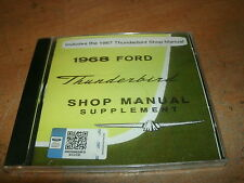 1967 1968 FORD THUNDERBIRD T-BIRD FACTORY COMPLETE SHOP SERVICE MANUAL ON CD-ROM