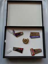 BT LONDON 2012 OLYMPIC + PARALYMPIC GAMES PIN BADGE SET LIMITED EDITION + CASE