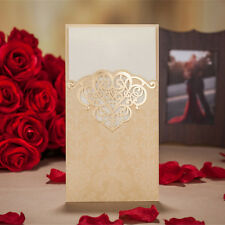 5PCS Gold Wedding invitation card with envelopes, seals, personalized printing