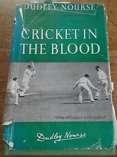 1949 1st Ed CRICKET IN THE BLOOD by Dudley Nourse Natal South Africa African DJ