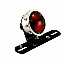 Drilled Taillight For Custom Use W/Raw Ring Harley Honda Yamaha Kawasaki Triumph