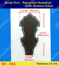 Banjo Part - Rosewood Headplate w/ Abalone Inlay (BH-001)