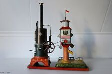 Seltene uralt Bing Dampfmaschine Mühle, rare GBN toy steam engine windmill MINT!