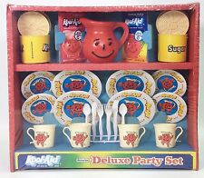 VINTAGE WOLVERINE TOY KOOL-AID DELUXE PARTY PLAYSET FOR CHILDREN 4 PLACE NRFB