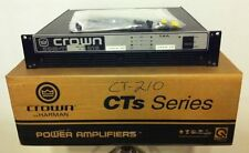 CROWN by HARMON COM-TECH CT-210 300W 2 Channel Power Amplifier Rack Mount Amp