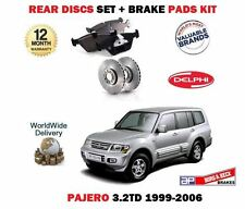FOR MITSUBISHI PAJERO 3.2 IMPORT 1999-2006 REAR BRAKE DISCS SET + DISC PADS KIT