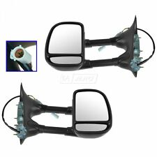 Towing Black Power Side View Mirrors Pair Set for 99-07 Ford Super Duty Truck