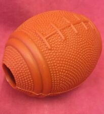 "Rubber Rugby Treat Ball 4"" Hard Wearing Rubber Toy Exerciser American Football"