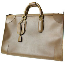 GUCCI Travel Boston Hand Bag Brown Leather Made in Italy Vintage Authentic #3445